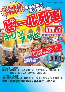 近鉄つどいビール列車2016-1